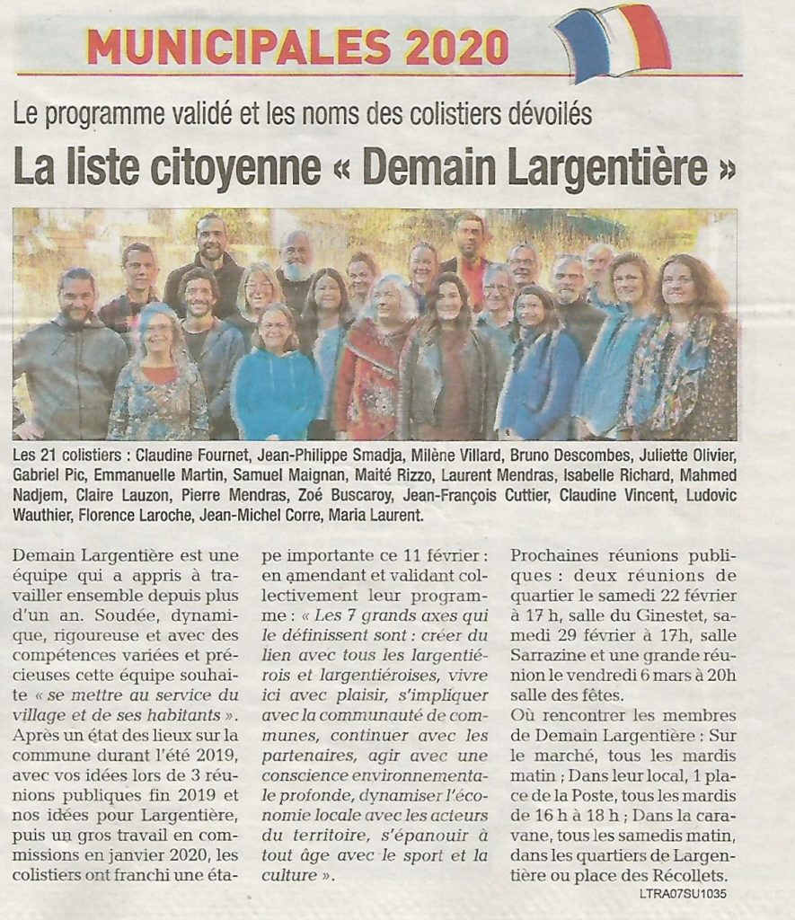 Liste citoyenne article