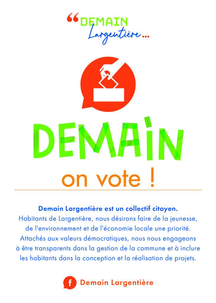 Flyer Demain Largentière Elections municipales 2020