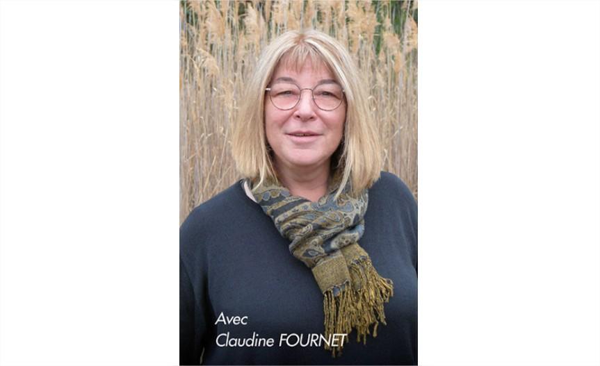 Photo Claudine Fournet tête de liste Demain Largentière 2020