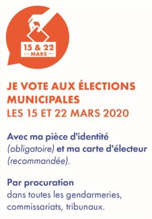 Vote aux élections municipales de Largentière 2020