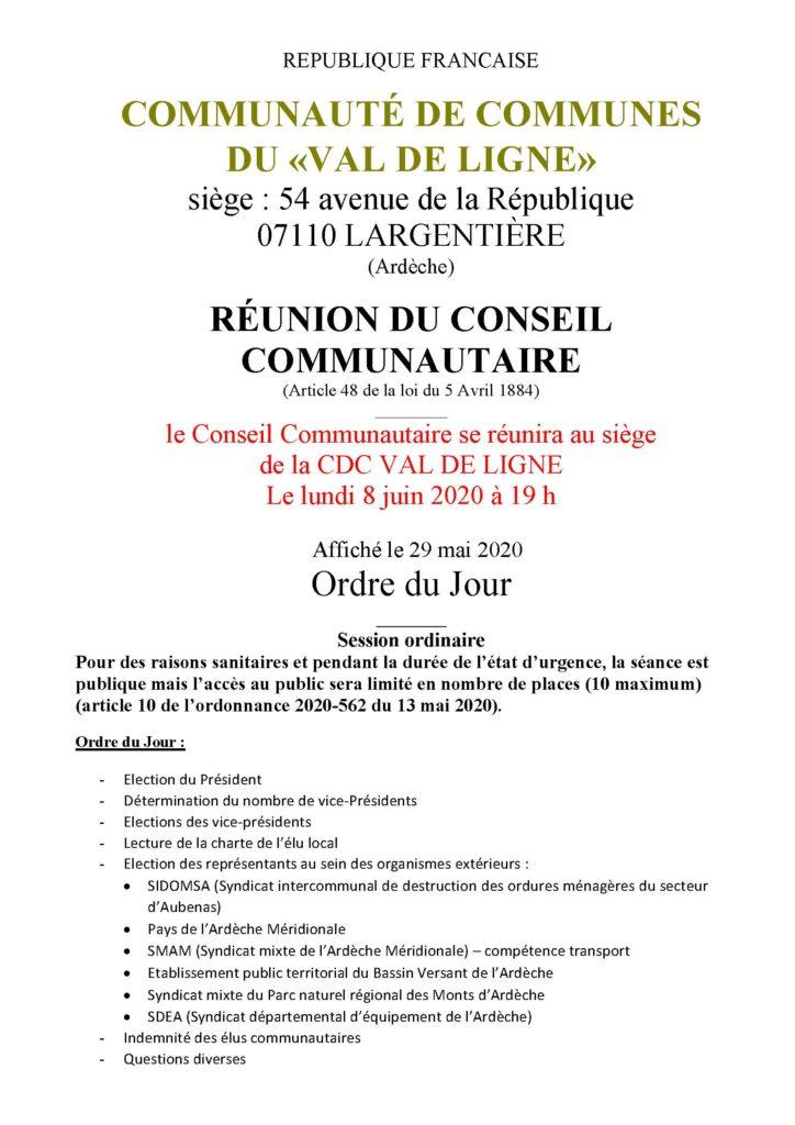 convocation conseil communautaire interco